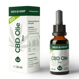 CBD Olie Raw Bio 2.5% – 30ml – Medihemp