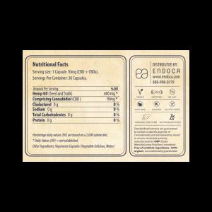 Endoca – CBD Capsules Raw Bio – 3% – 30 stuks