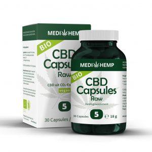 CBD Capsules Raw Bio – 5% – 30 stuks – Medihemp